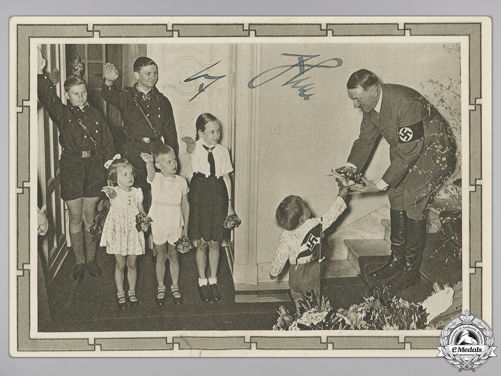 eMedals-An AH HJ Signed Picture Postcard 1939