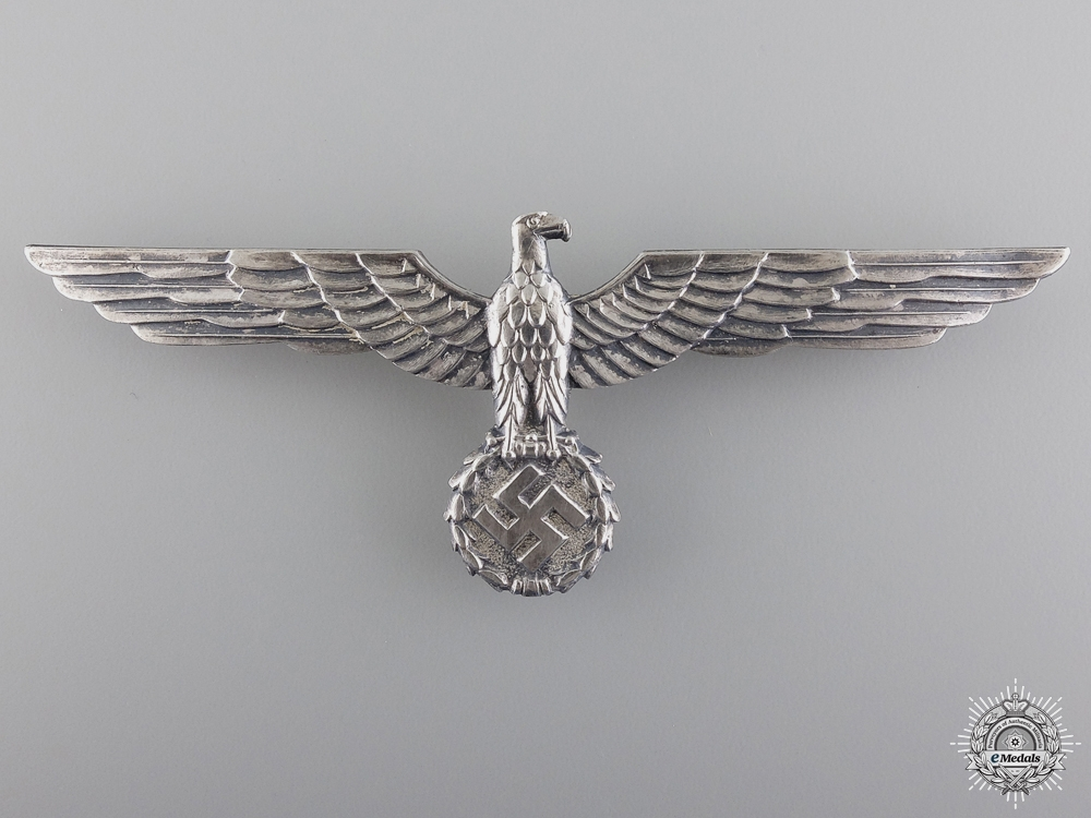 eMedals-An Army Breast Eagle; Silvered Tombac