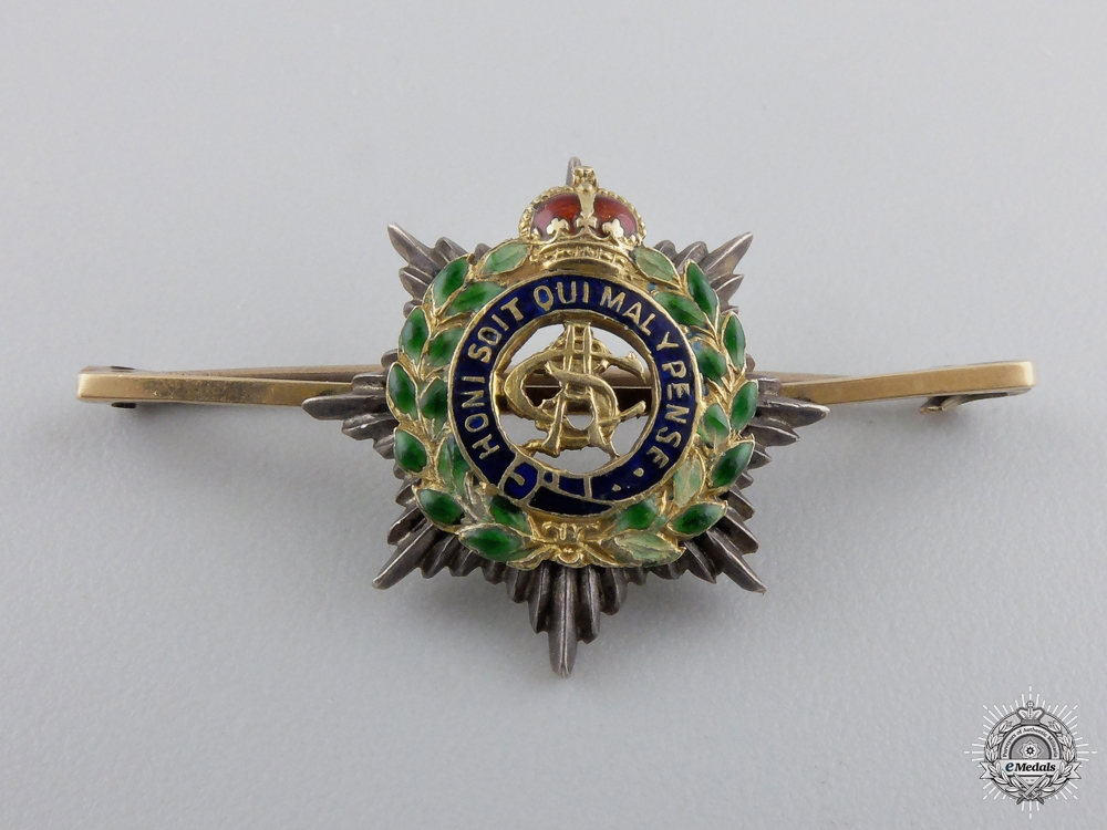 eMedals-An Army Service Corps Sweetheart Badge in Gold