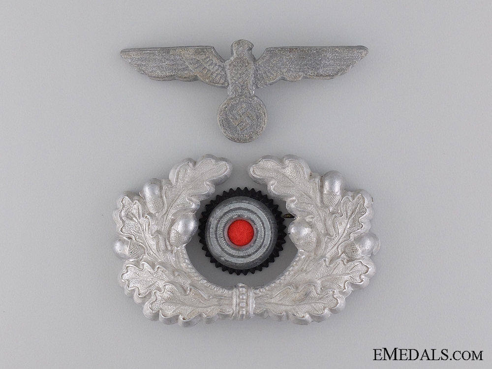 eMedals-An Army Visor Wreath and Cockade with Eagle