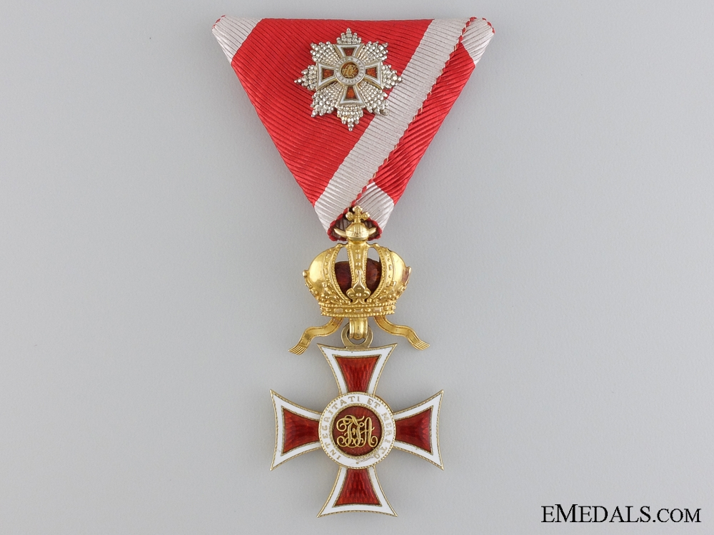 eMedals-An Order of Leopold Knights Cross in Gold with Grand Cross c.1860