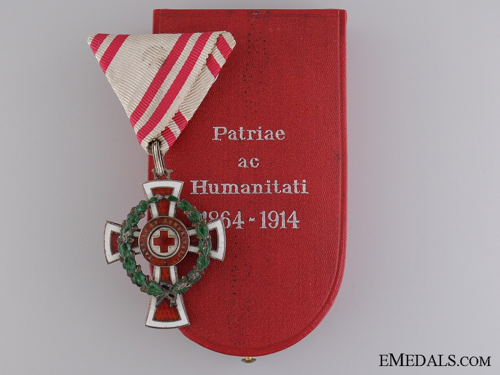 eMedals-An Austrian Red Cross Honour Decoration with Case of Issue