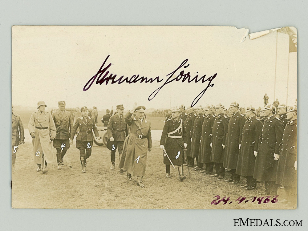 eMedals-An Early 1933 Hermann G¡_ring Signature