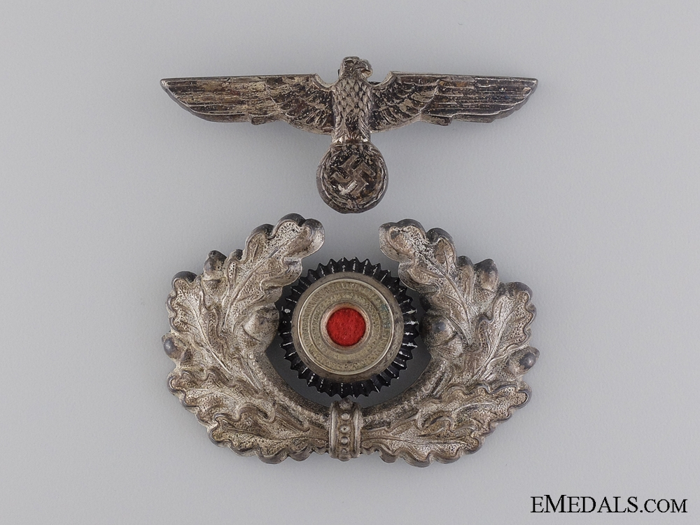 eMedals-An Early Army Visor Wreath and Cockade with Eagle