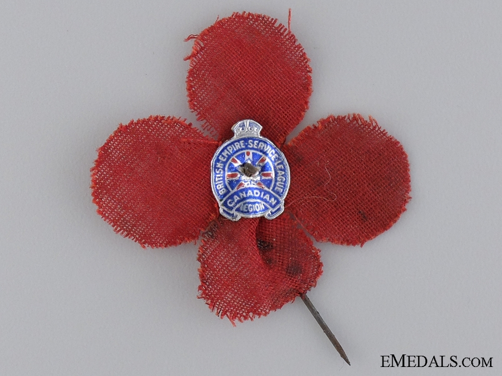eMedals-An Early Canadian Cloth Poppy