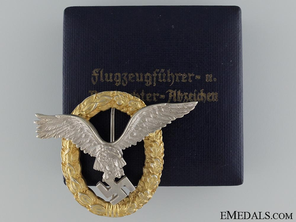 eMedals-An Early Combined Pilot Observer Badge by C.E. Juncker Berlin  Consignement 3