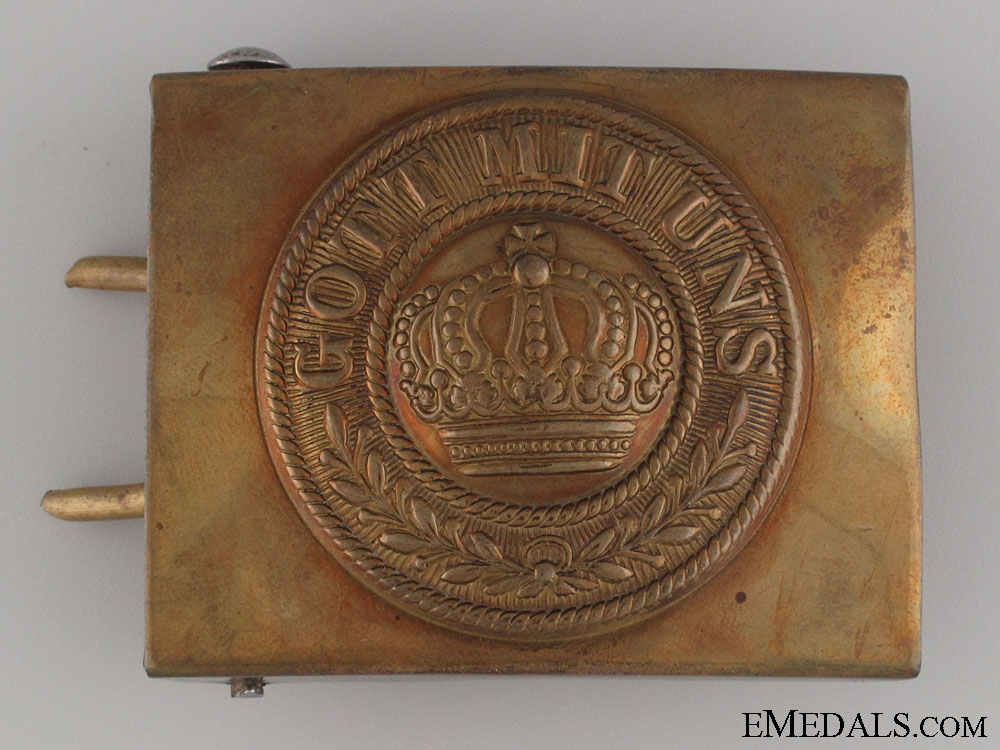 eMedals-An Early EM/NCO's Prussian Solid Brass Buckle