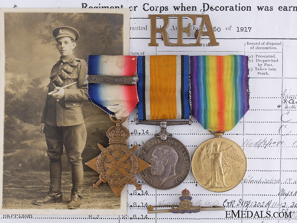 eMedals-An Early First War Trio to the Royal Field Artillery