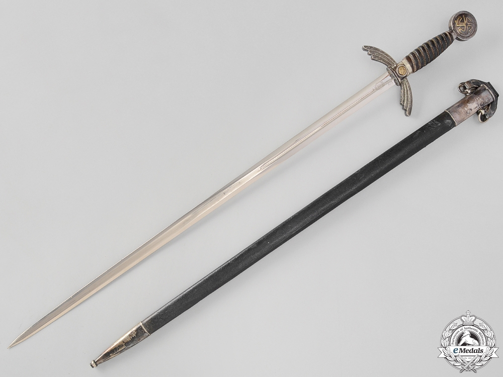 eMedals-An Early Luftwaffe Sword by E. & F. Hörster & Company, Solingen
