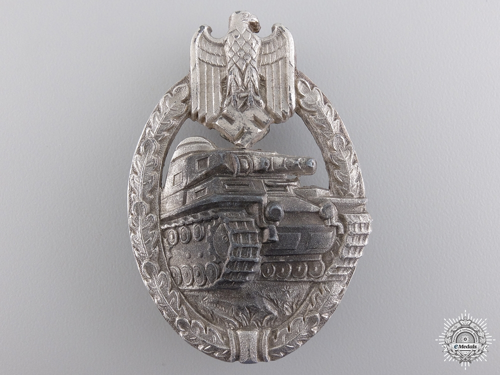 eMedals-An Early Silver Grade Tank Badge by Wilhelm Deumer