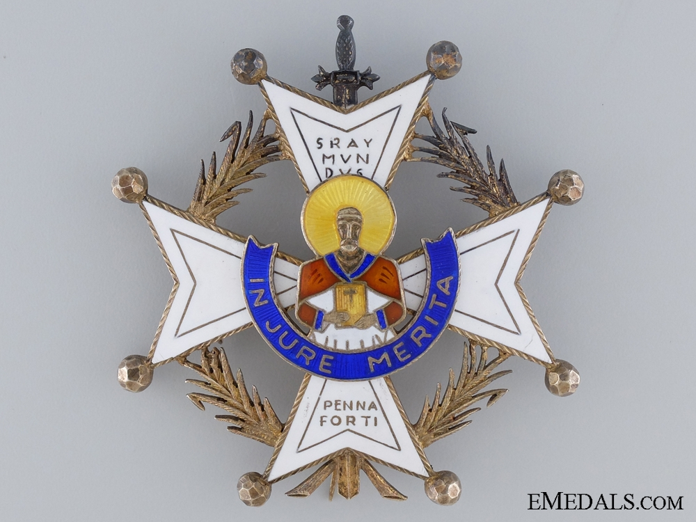 eMedals-An Early Spanish Order of Saint Raymond of Penafort; Breast Star
