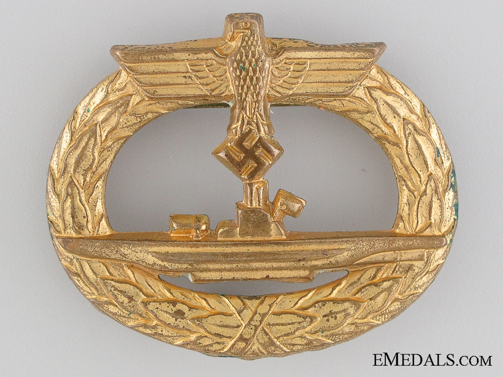 eMedals-An Early Submarine War Badge; Rare Type