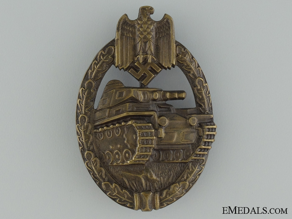 eMedals-An Early Tombac Tank Badge; Bronze Grade