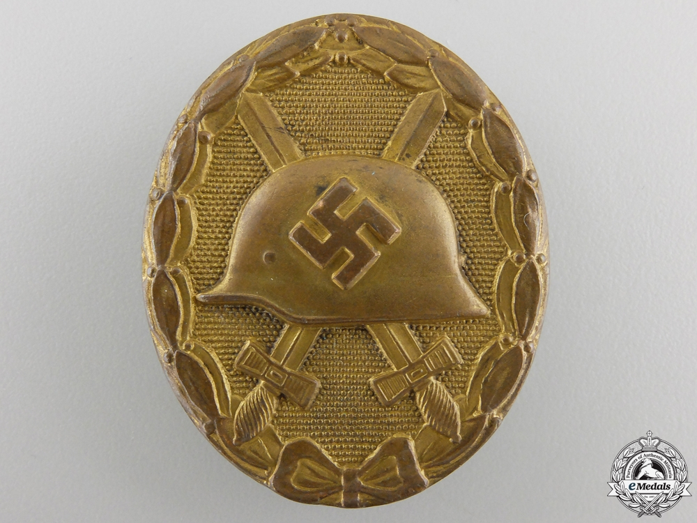 eMedals-An Early Wound Badge; Gold Grade