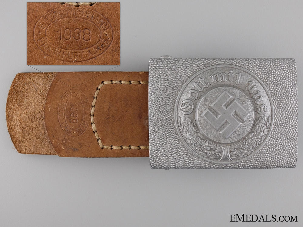 eMedals-An Enlisted Police Belt Buckle; Marked
