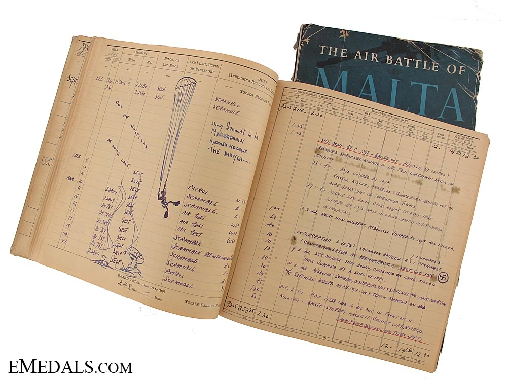 eMedals-An Evocative RAF Log Book to a Canadian - Air Victories