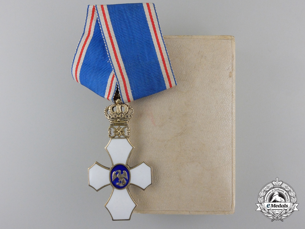 eMedals-An Icelandic Order of the Falcon; Type I with Royal Crown (1921-1944)
