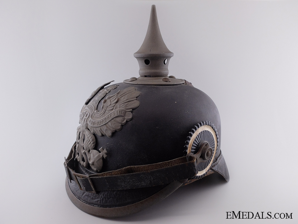 eMedals-An Imperial Prussian Enlisted Pickelhaube 1916; 8th Regiment