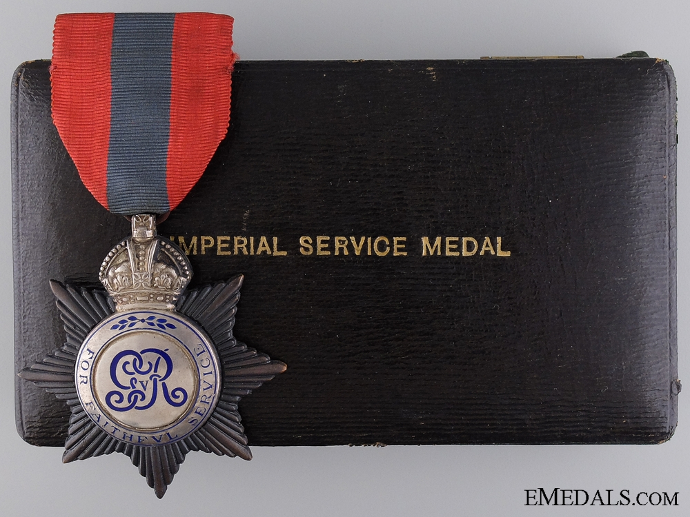 eMedals-An Imperial Service Medal to Canada Customs at Kingston, Ontario  Consignment 17