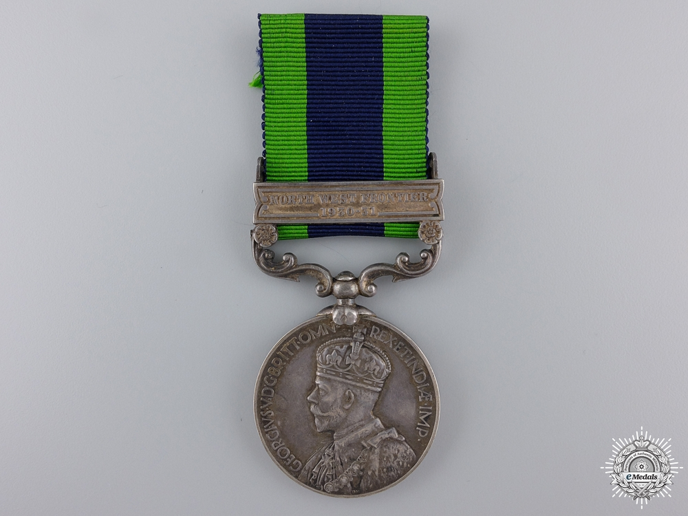eMedals-An India General Service Medal to the 8th Punjab Regiment