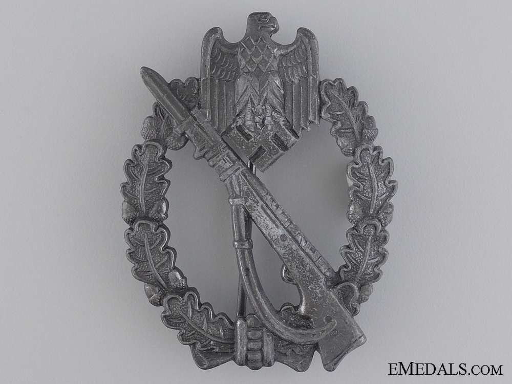 eMedals-An Infantry Badge Silver Grade; Maker Marked