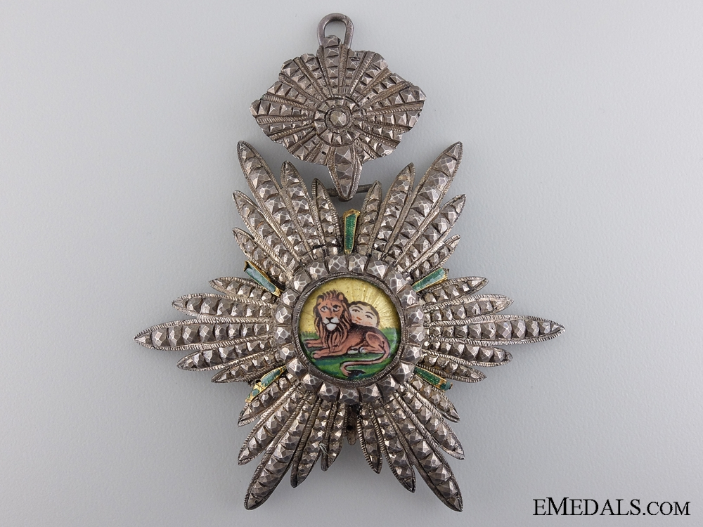 eMedals-An Iranian Order of the Lion and Sun; Commander's Badge