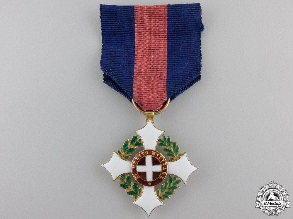 eMedals-An Italian Military Order of Savoy; Knight`s Badge in Gold