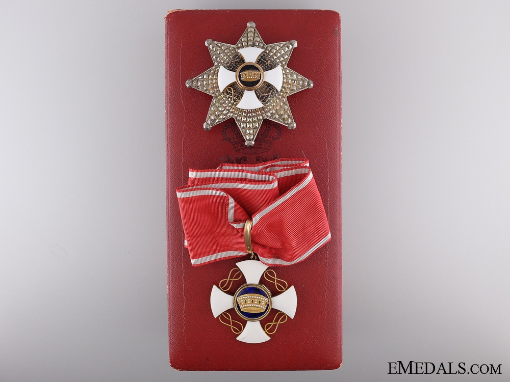 eMedals-An Italian Order of the Crown; Grand Commander's Set of Insignia