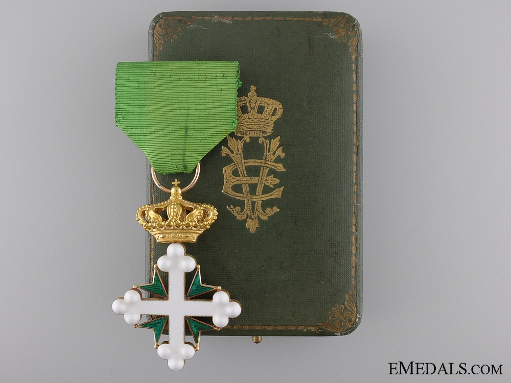eMedals-An Italian Order of St. Maurice and St. Lazarus in Case of Issue
