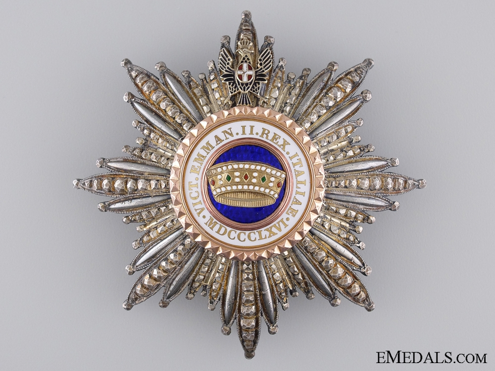 eMedals-An Italian Order of the Crown; Grand Cross Star