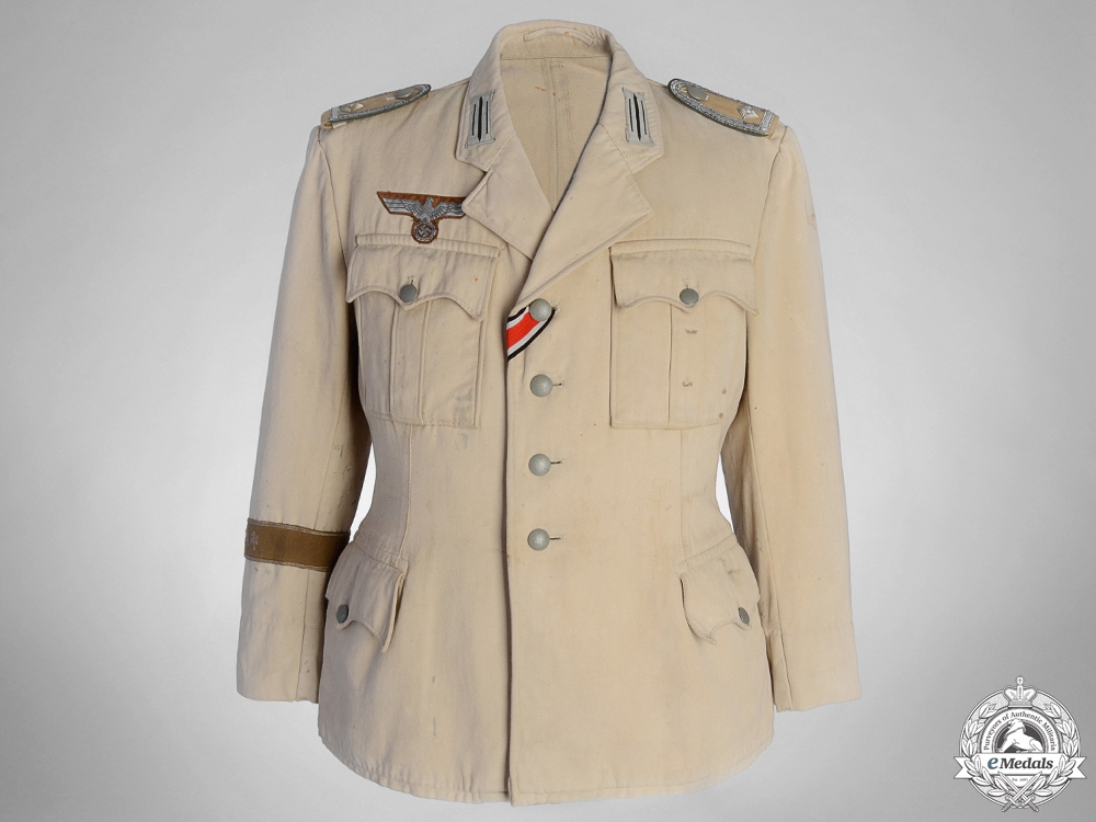 eMedals-An M36 NCO's Tropical Service Tunic with Afrika Cufftitle