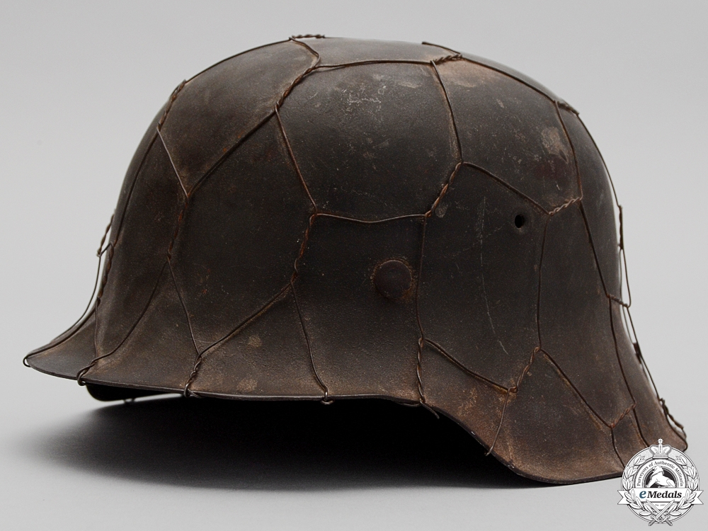 eMedals-An M42 Army (Heer) Helmet with Wire & Named