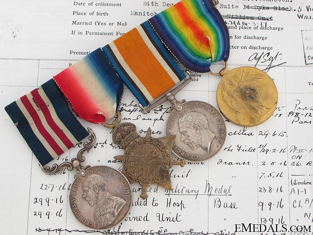 eMedals-An MM Group to the 2nd CAN INF. - Three Times Wounded