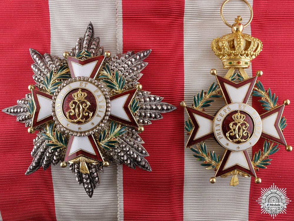 eMedals-An Order of Charles of Monaco in Gold; Grand Cross by Halley