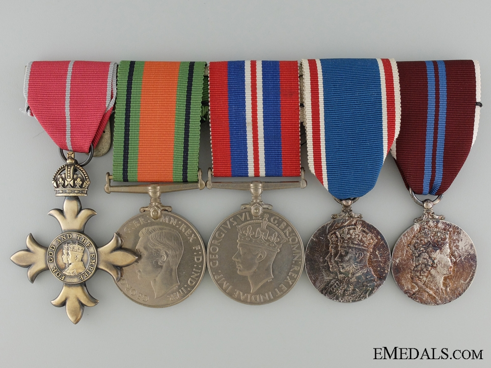 eMedals-An Order of the British Empire Second War Medal Grouping