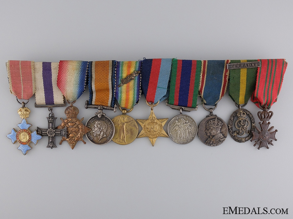 eMedals-An Order of the British Empire & Military Cross Miniature Group