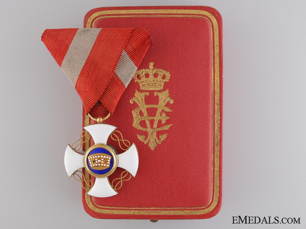 eMedals-An Order of the Crown of Italyin Gold; Knight