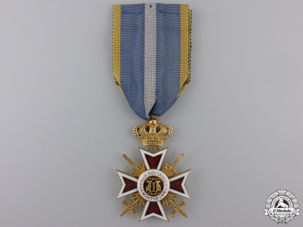 eMedals-An Order of the Crown of Romania;  Military Division Knight