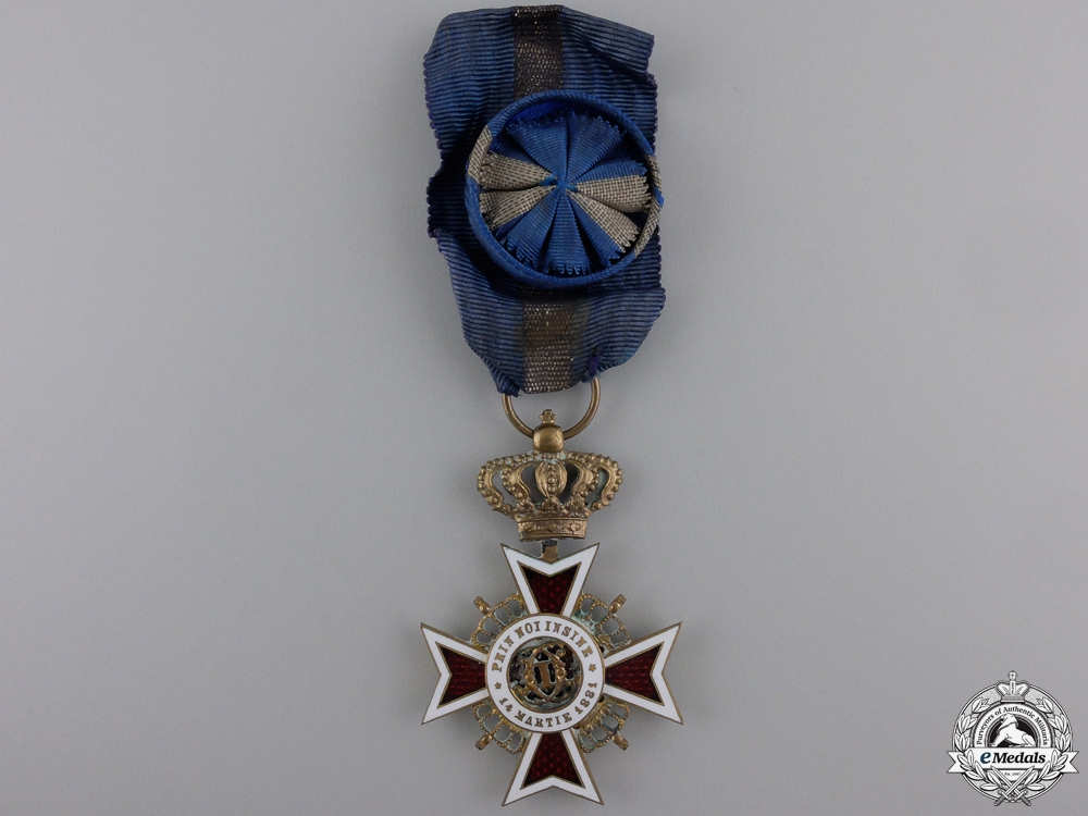 eMedals-An Order of the Crown of Romania; Civil Division Officer