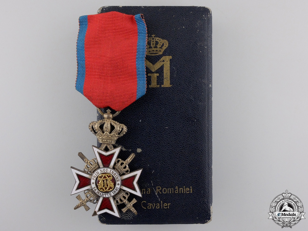eMedals-An Order of the Crown of Romania; Knight of the Military Division with Swords