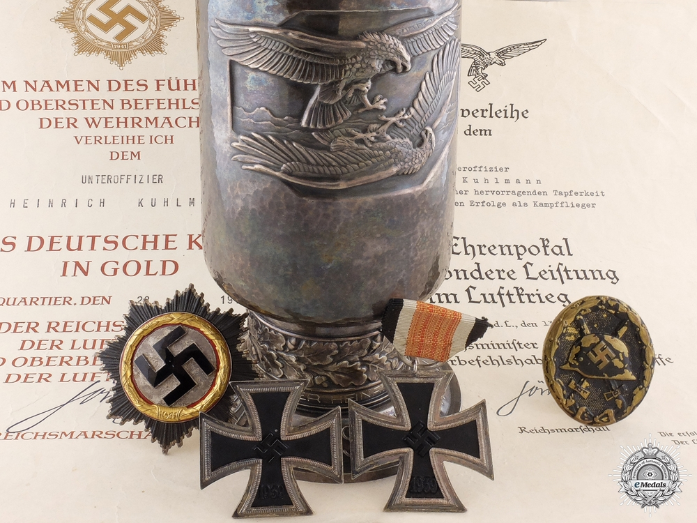eMedals-An Outstanding Luftwaffe Award Group to Bomber Group 27