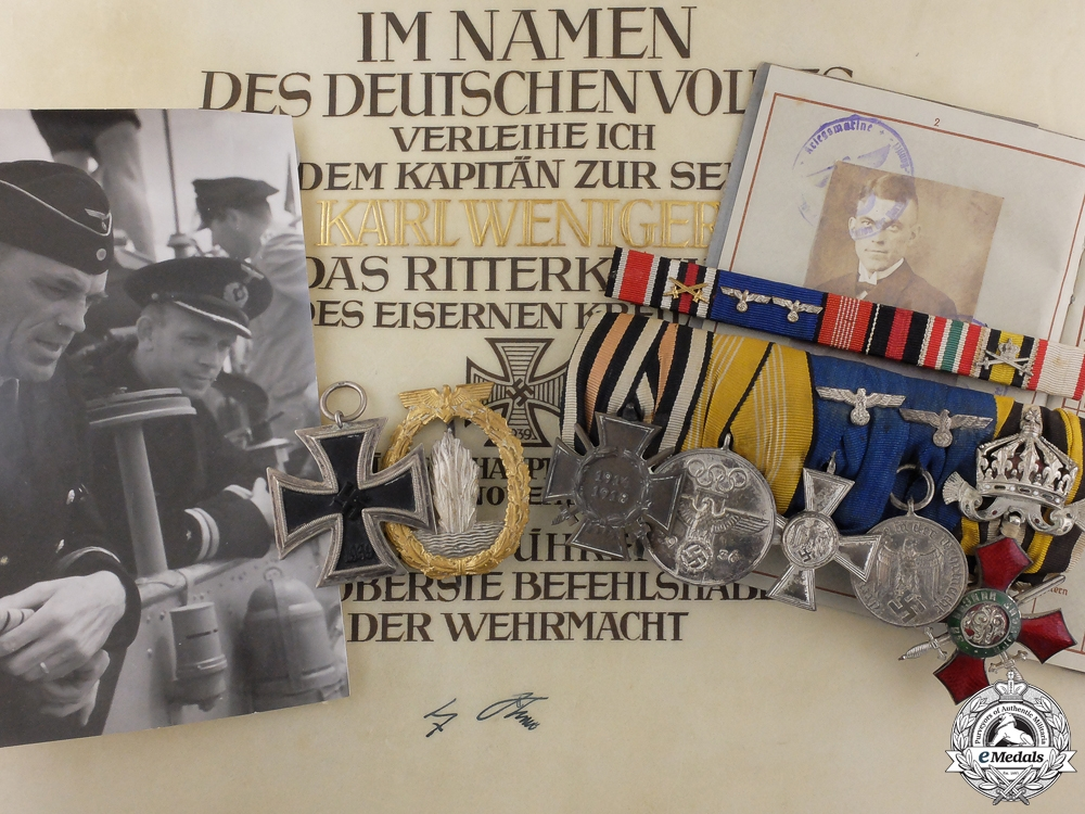eMedals-An Outstanding Posthumous Kriegsmarine Knight's Cross Grouping