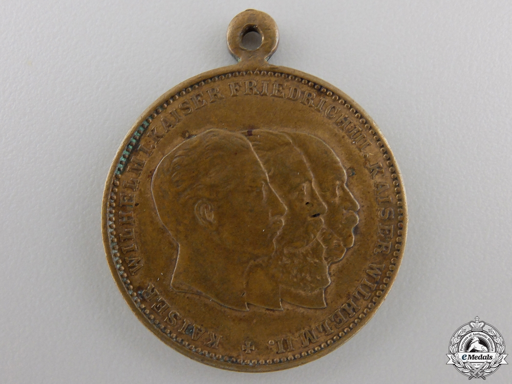 eMedals-An Prussian 1888 Year of the Three Emperors Medal