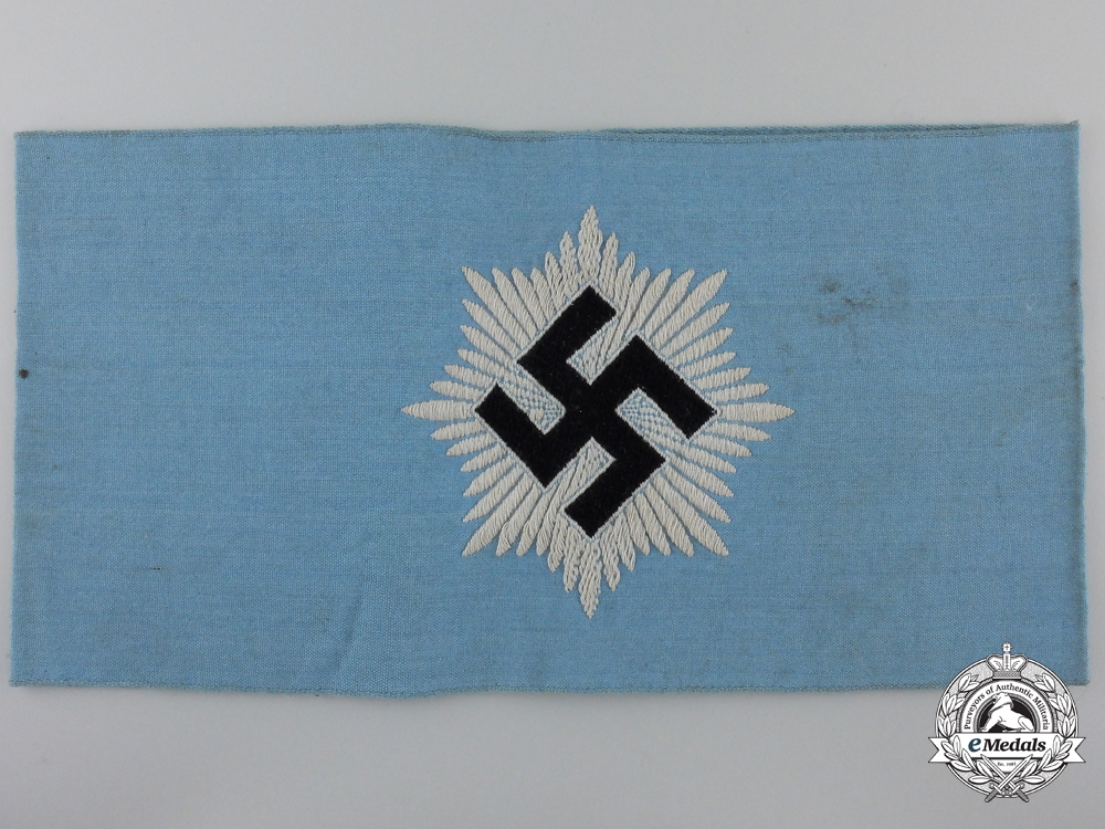 eMedals-An RLB/Reich's Air Protection Service Armband; 2nd Type