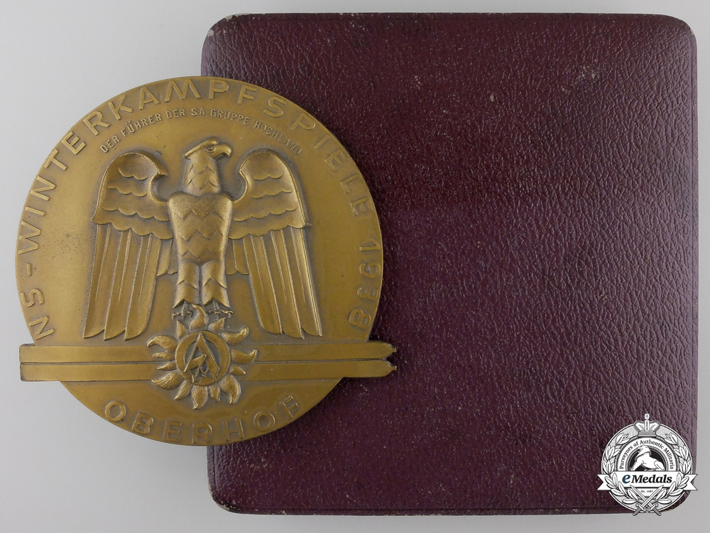eMedals-An SA Group Highland at Oberhof NS Winter Fighting Games Award Medal 1938