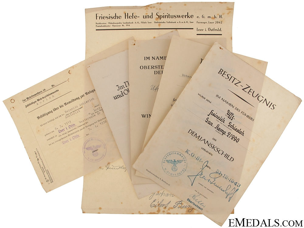 eMedals-Army Group of Award Documents - Stretcher Bearer