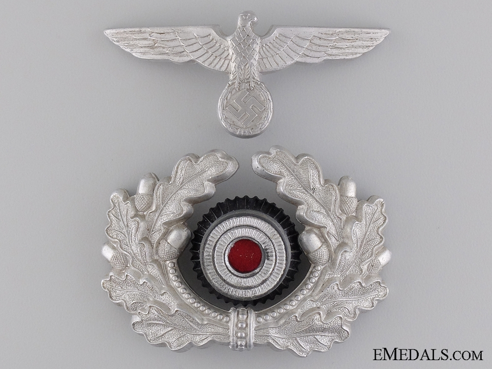 eMedals-Army Officer Visor Wreath and Cap Eagle