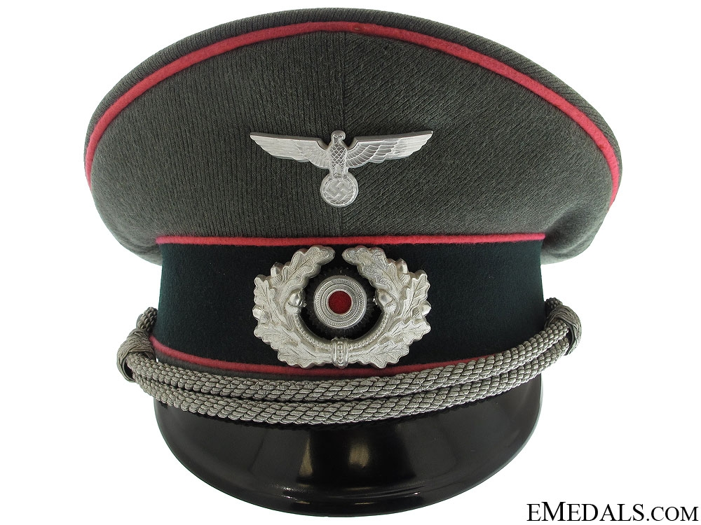 eMedals-Army Panzer Officer's Visor Cap by Erel