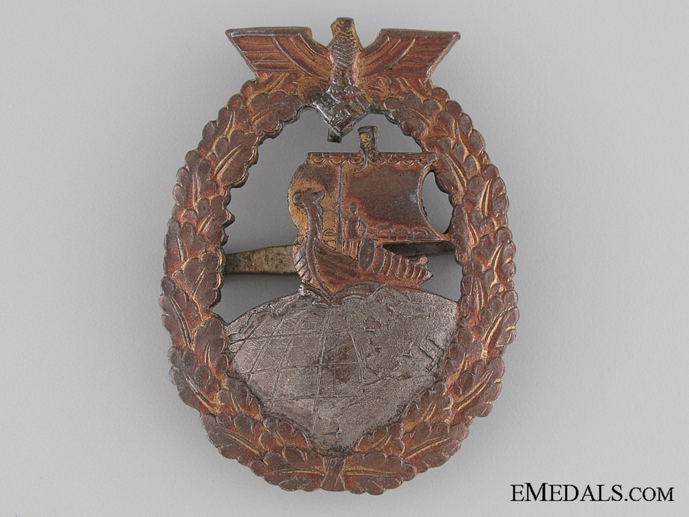 eMedals-Auxiliary Cruiser War Badge - French Made