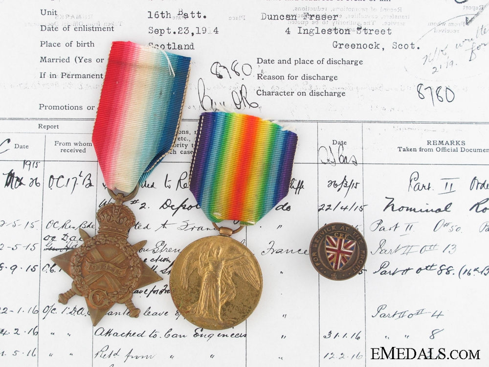 eMedals-Awards to 1st Canadian  Ammunition Column; Wounded at Amiens